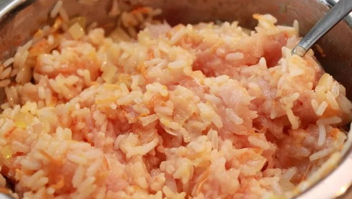 Рис и фарш